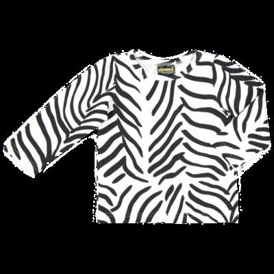 Long sleeve top /'zebra' (black&white) 90–140cm