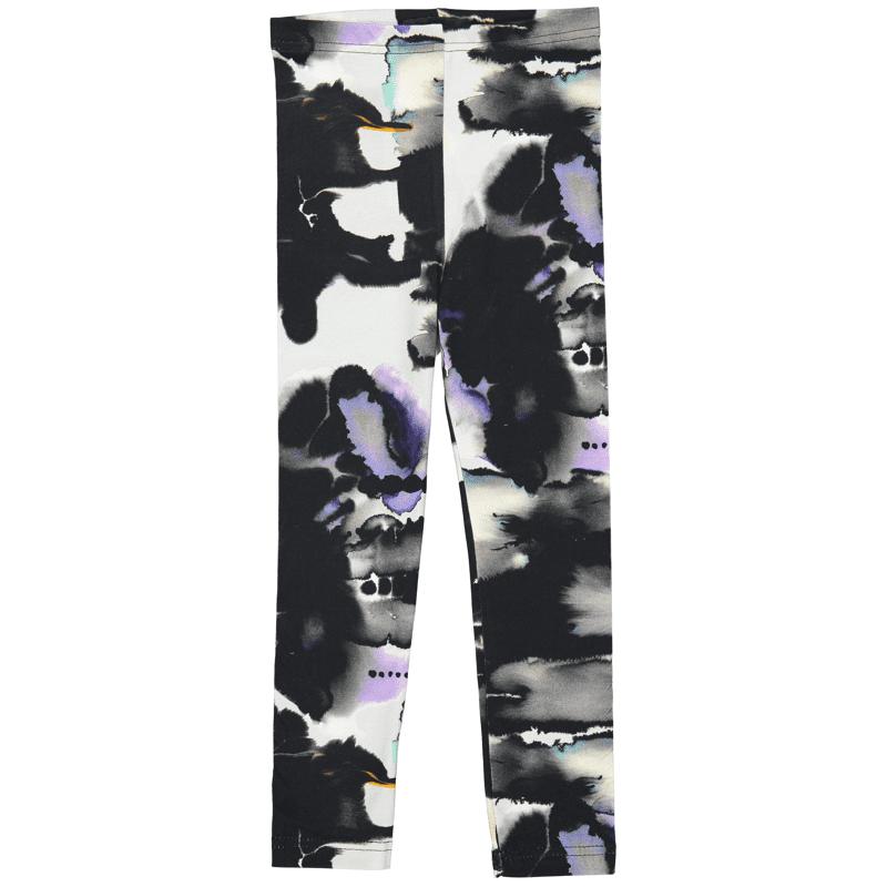 Leggins /'mustepiste' (mu-valk-värit) 80-150cm - leggins, mustepiste