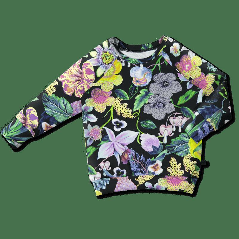 Sweatshirt /'mystical flowers' (col2) 80–140cm -