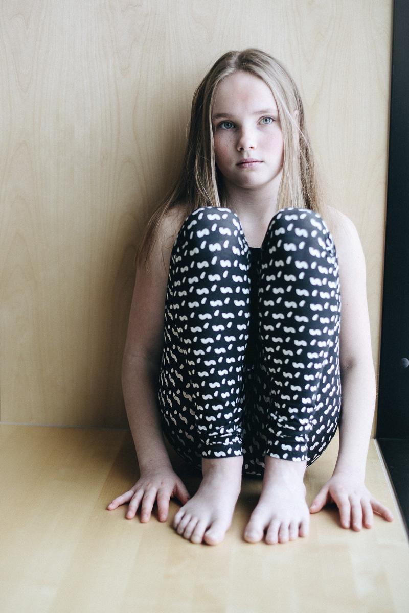 Leggins /'sisi' (tummanharmaa) 80-150cm - leggins, sisi