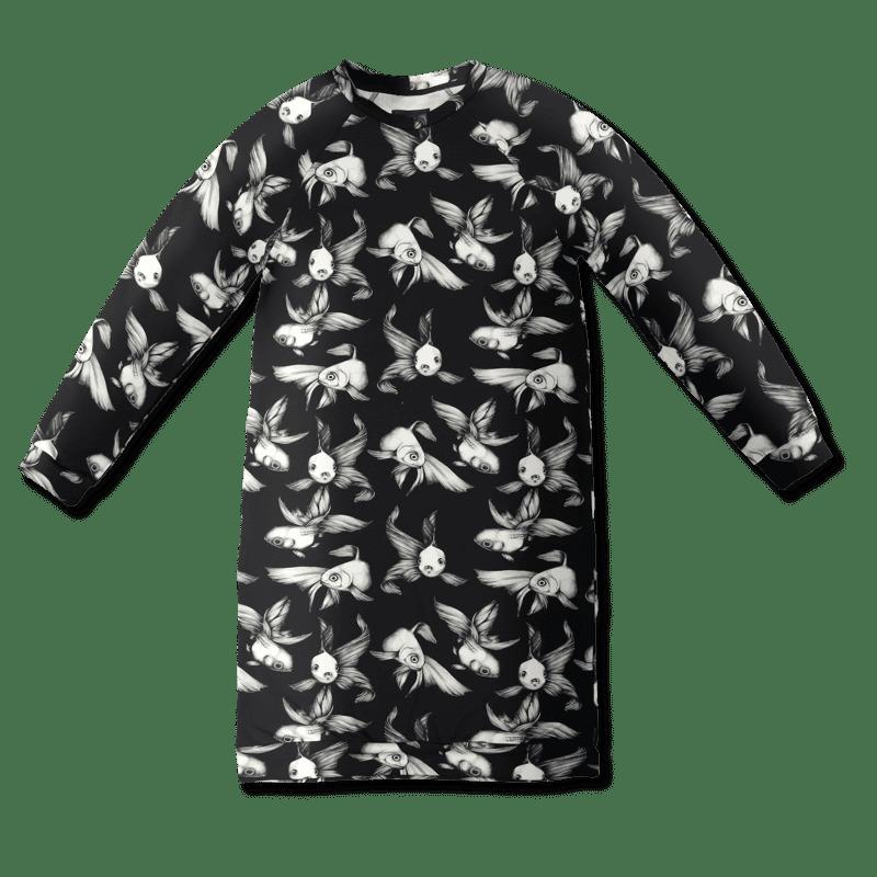 Jätticollege /'fisu' (musta-valk) onesize - fisu, jatticollege