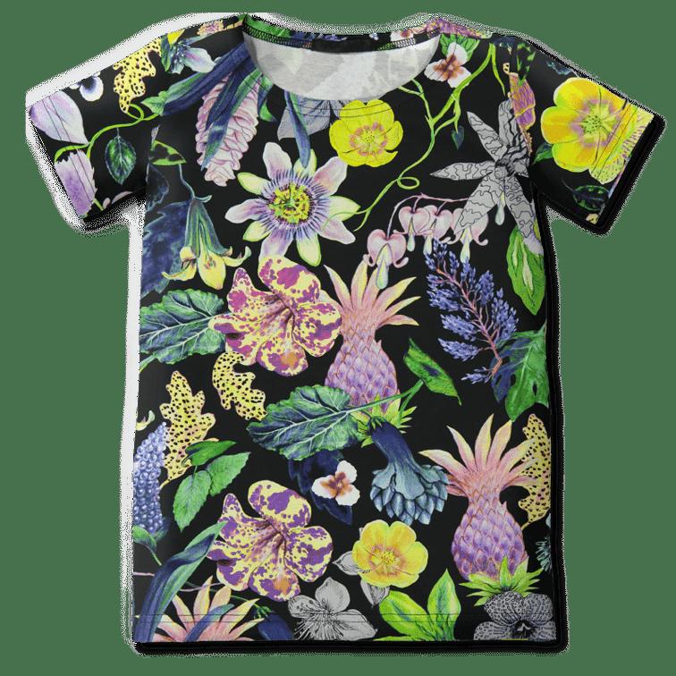 Teeppamekko /'mystical flowers' (col2) 80-150cm - mystical-flowers, teeppamekko