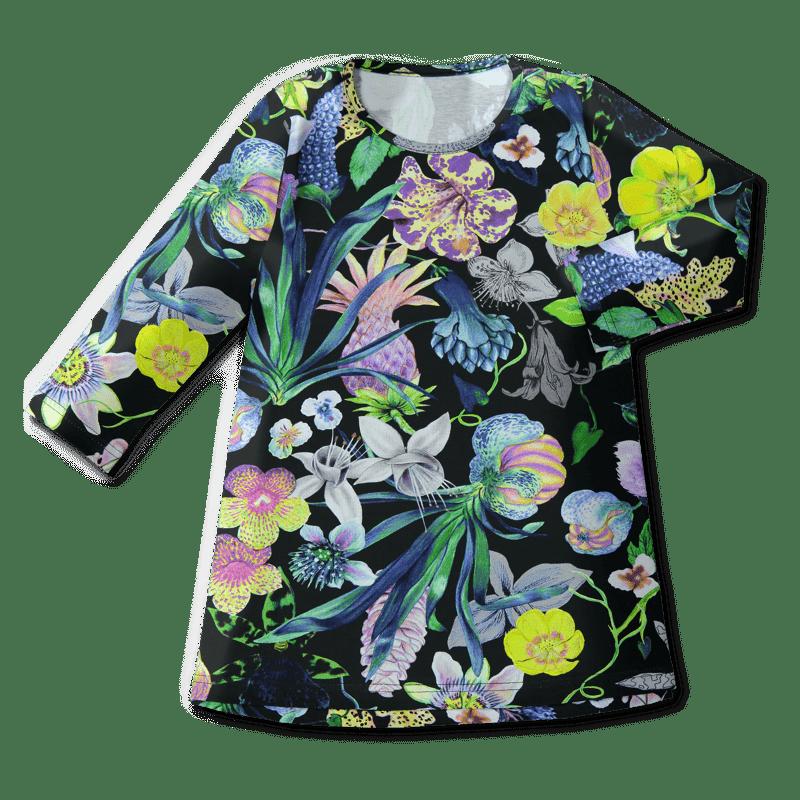 Tunic dress /'mystical flowers' (col2) 80–140cm -