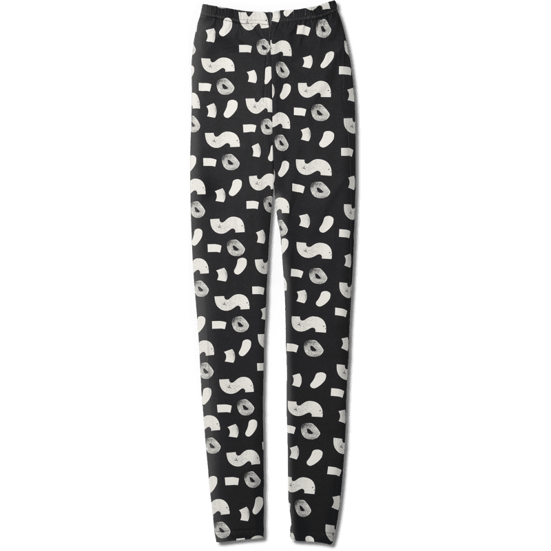 Leggings /'soso' (black&white) XS–XL - leggins