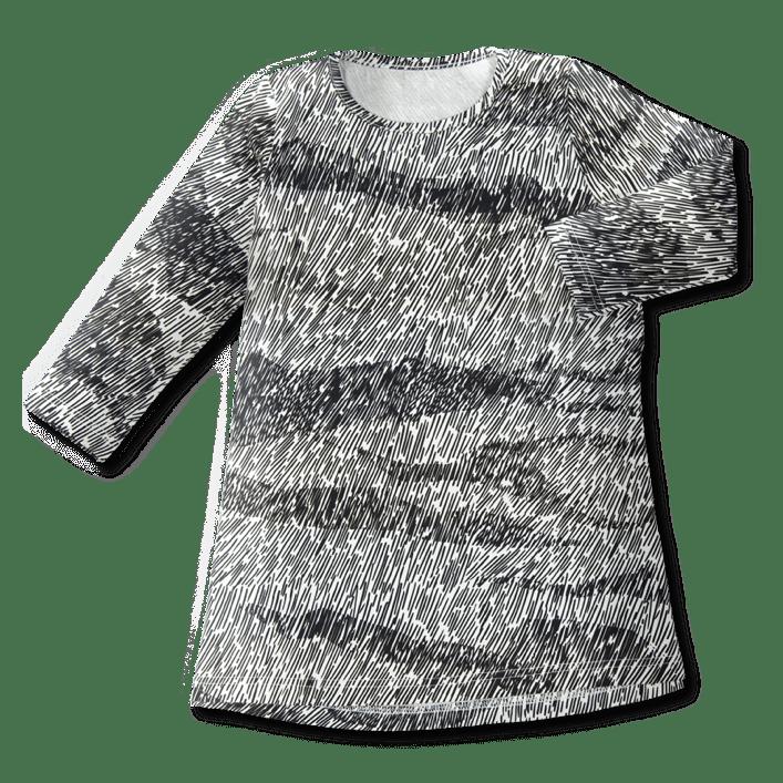 Tunikamekko /'suo' (musta-valk) 80-140cm - suo, tunikamekko