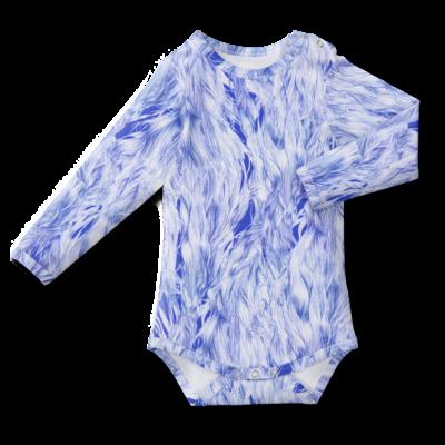 Bodysuit/'wind in the hair' (blue&white) 60–90cm