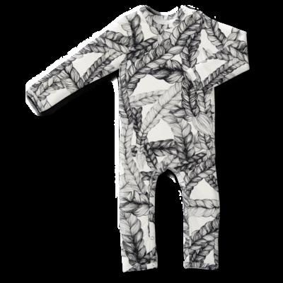 Sleepsuit /'braid' (black&white) 60–90cm
