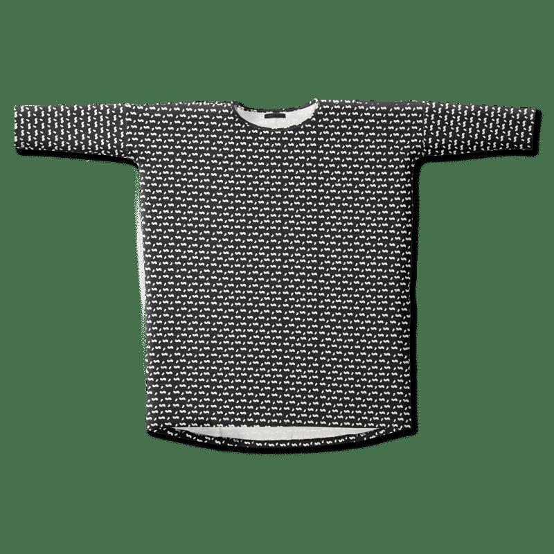 Tunika /'sisi' (musta) one size - sisi, tunika