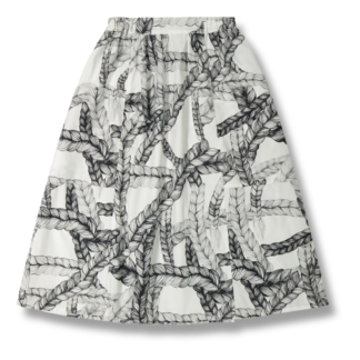 Vimma Skirt   SANELMA   Letti   black-white   Onesize - black-white, braid, Onesize, SANELMA, Skirt