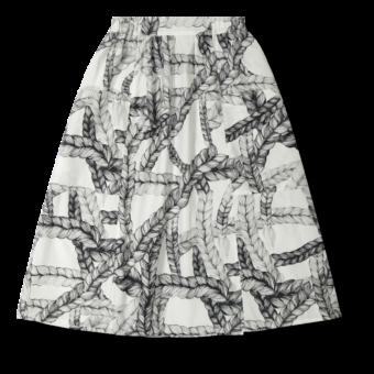 Vimma Skirt   SANELMA   Letti   black-white   Onesize - black-white, braid, Onesize, SANELMA, Skirt