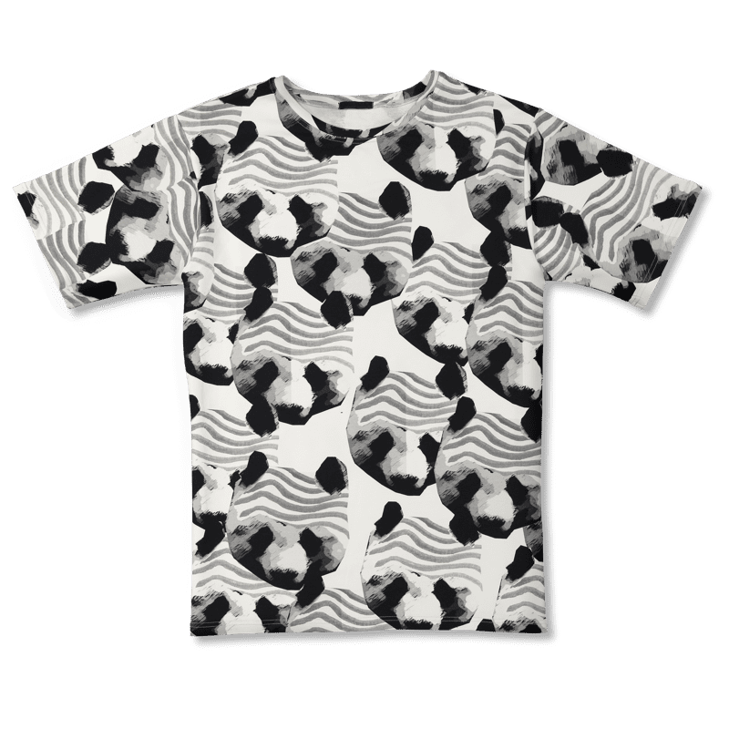 Collegeteeppa /'pandaperhe' (musta-valkoinen) onesize - collegeteeppa, pandaperhe