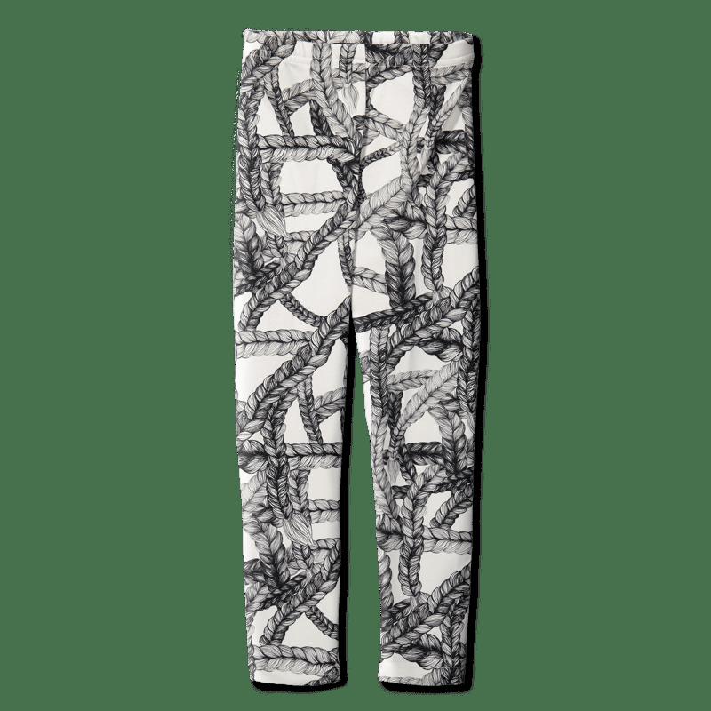 Leggins /'pikkuletti' (must-valk.) 80-150cm - leggins, pikkuletti