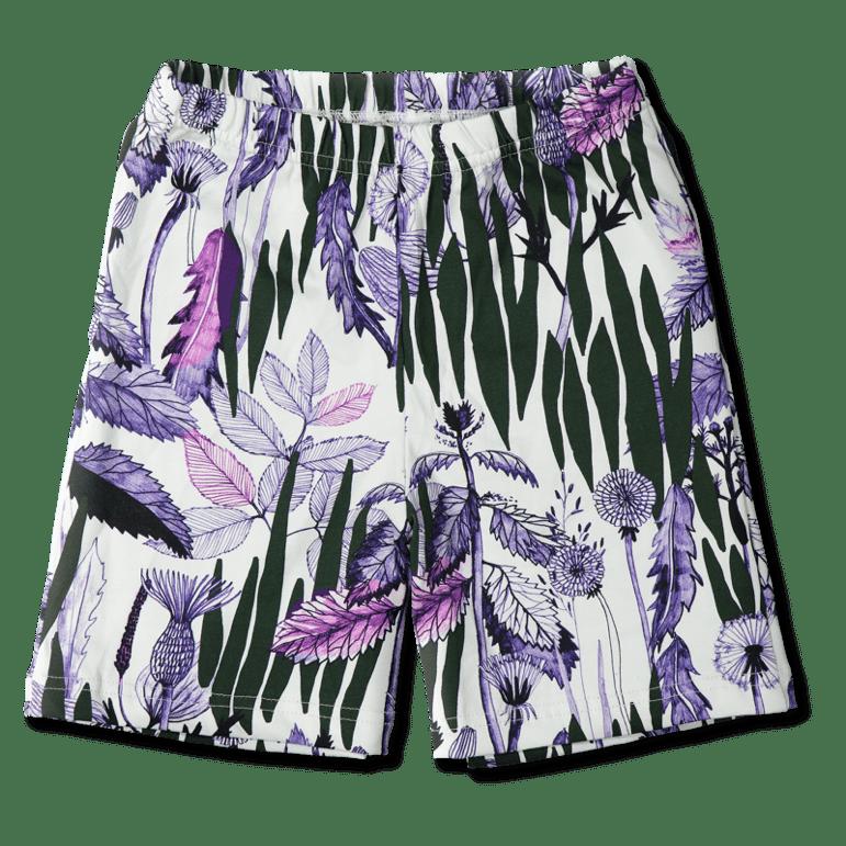 Shortsit/'Rikkaruoho' (valk-värikäs) 90-140 cm - rikkaruoho, shortsit