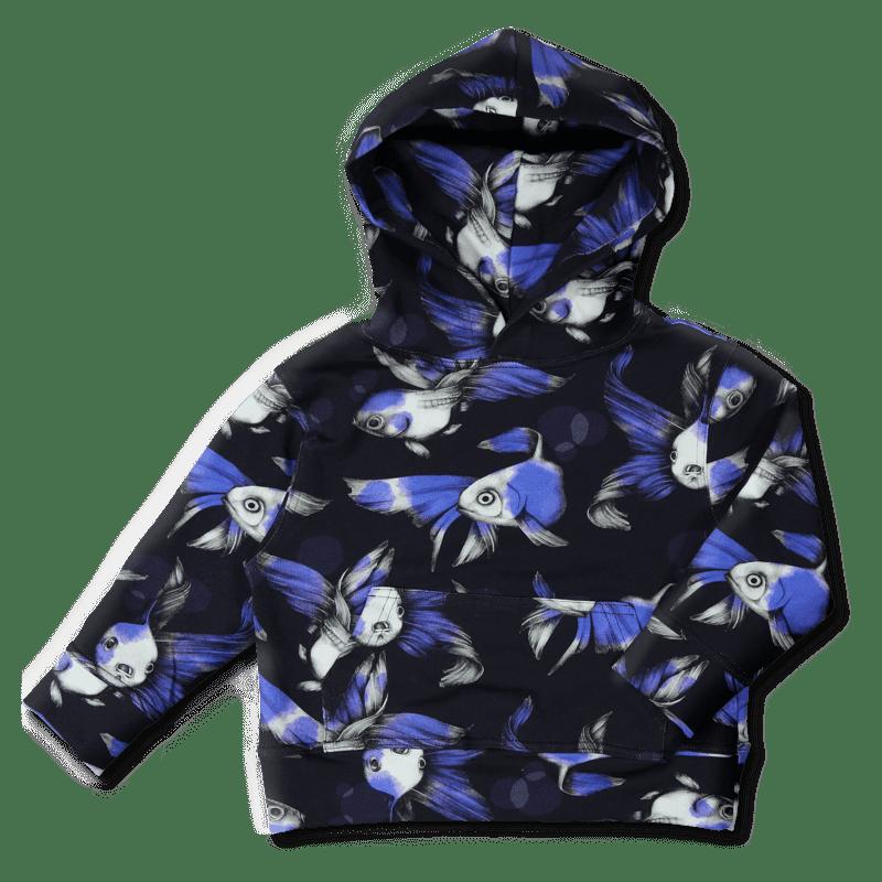 Hoodie / `fisu` (sininen) 90-150 cm - fisu, hoodie