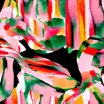 Puuvillaneulosriemupunainen Jersey