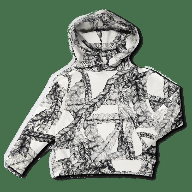 Hoodie / `letti` (musta-valk.) 90-150 cm - hoodie, letti