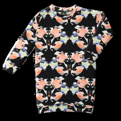 Oversize-college Perhonen musta-koralli  90-150cm