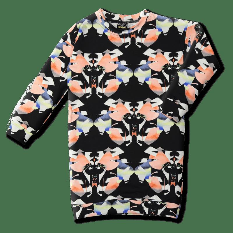 Oversize-college / `Perhonen` (musta-koralli) 90-150cm - oversize-college, perhonen