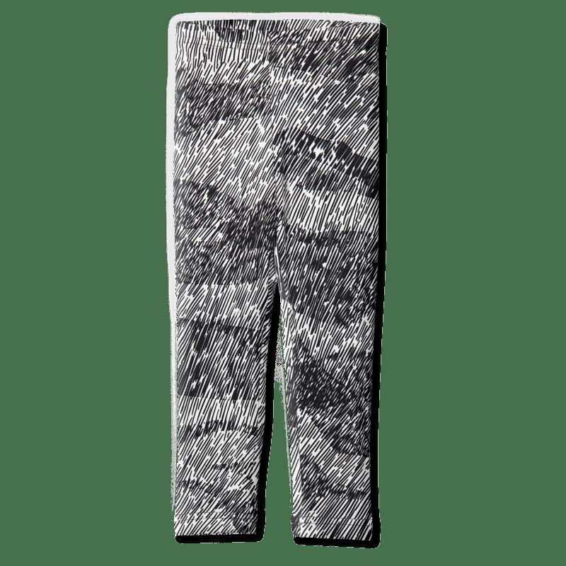 Leggins /'suo' (musta-valk) 80-140cm - leggins, suo