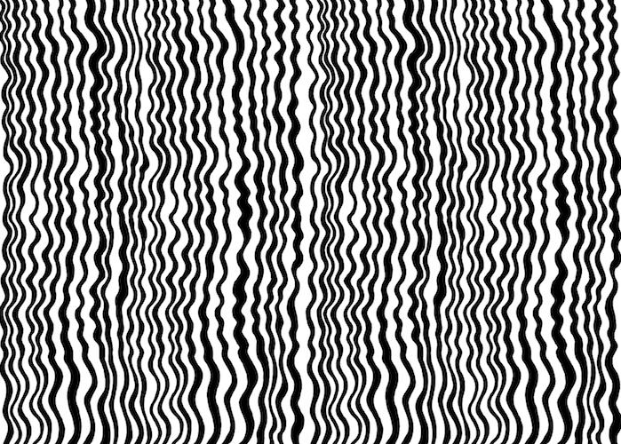 Vimma Puuvillaneulos `aaltoraita` (musta-valkoinen) Jersey - `aaltoraita`, Jersey, musta-valkoinen