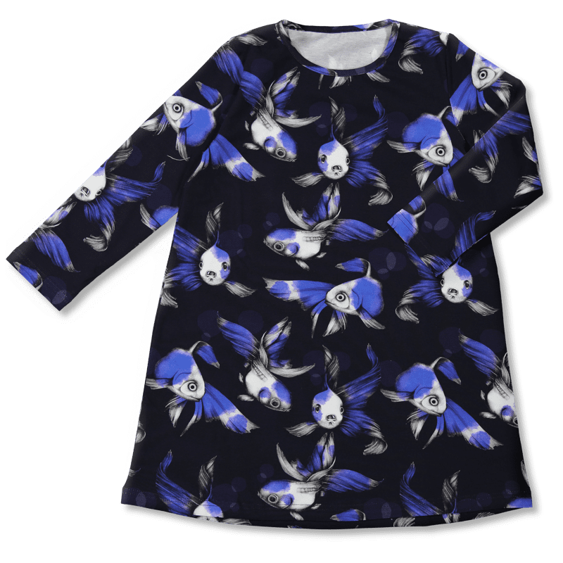 Vimma Tunikamekko fisu sininen 80-140cm - 80-140cm, fisu, sininen