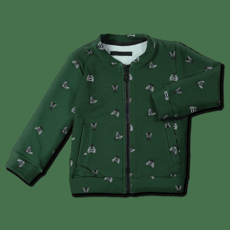 Vimma Bomber-takki kärpänen vihreä 90-140cm - 90-140cm, karpanen, vihreä
