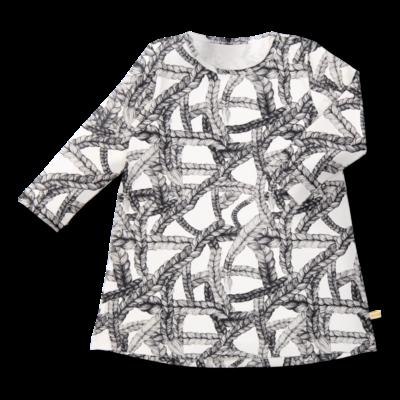 Tunikamekko Pikkuletti musta-valkoinen 90-160 cm