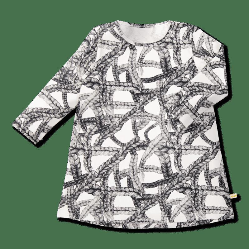 Vimma Tunikamekko Pikkuletti musta valkoinen 90-160cm - 90-160cm, musta-valkoinen, pikkuletti