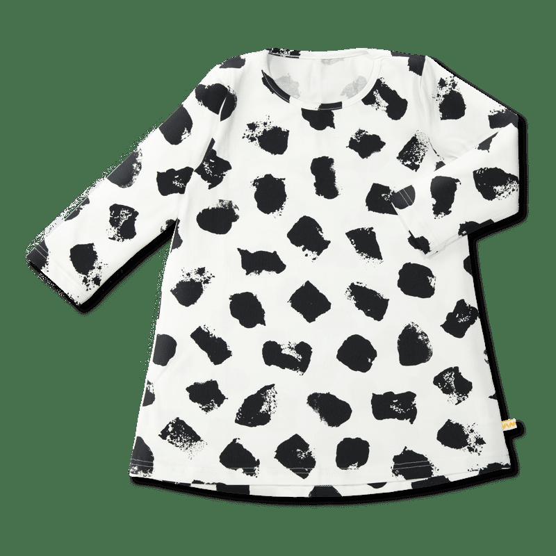 Vimma Tunikamekko Muuri musta-valkoinen 80-140cm - 80-140cm, musta-valkoinen, Muuri
