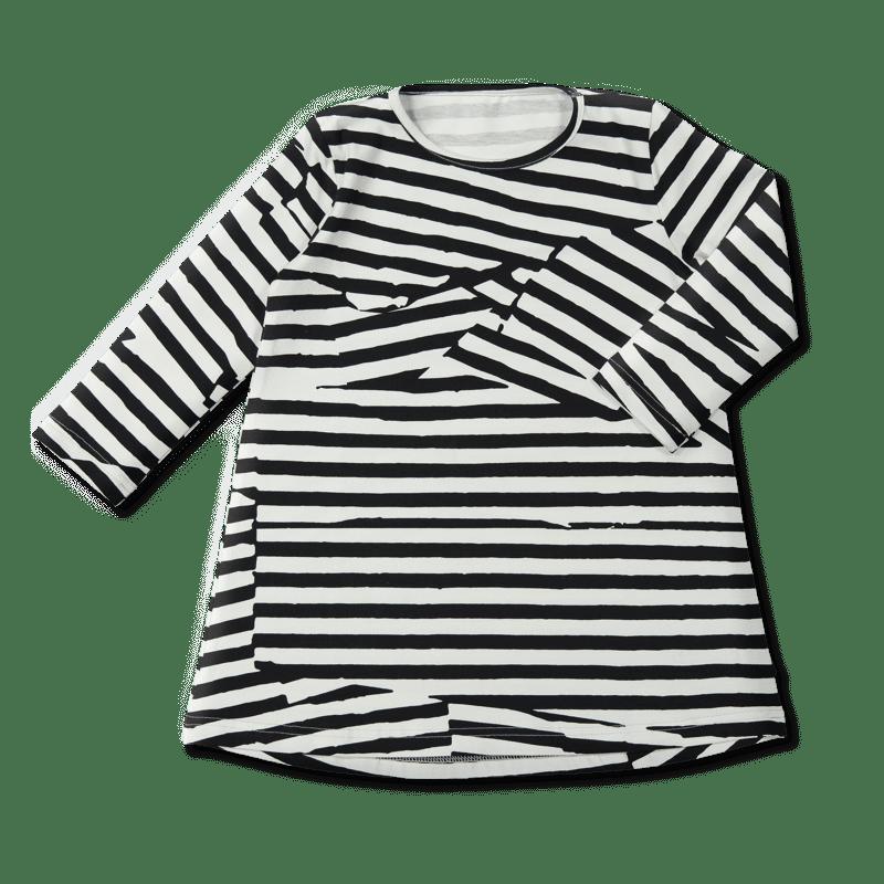 Vimma Tunikamekko Rutturaita musta-valkoinen 80-130cm - 80-130cm, musta-valkoinen, rutturaita