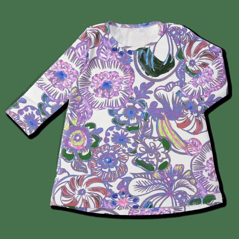 Vimma Tunikamekko voimakukka valko-värikäs 90-140cm - (valko-värikäs), 90-140cm, voimakukka