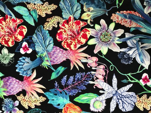 Vimma Puuvillaneulos Mystical flowers  col1 jersey -