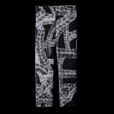 Legginslettimusta-hopea 80-150 cm