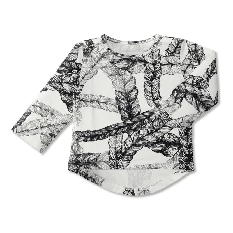 Vimma UTU-paita Letti   musta-valkoinen   80-140cm - 80-140cm, letti, musta-valkoinen
