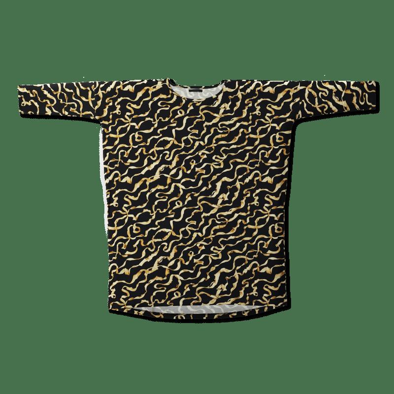 Vimma Tunikabox silkkinauha   musta-kulta   Onesize -