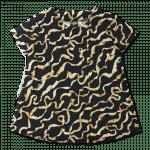 Vimma Moa-mekko Silkkinauha   musta-kulta -
