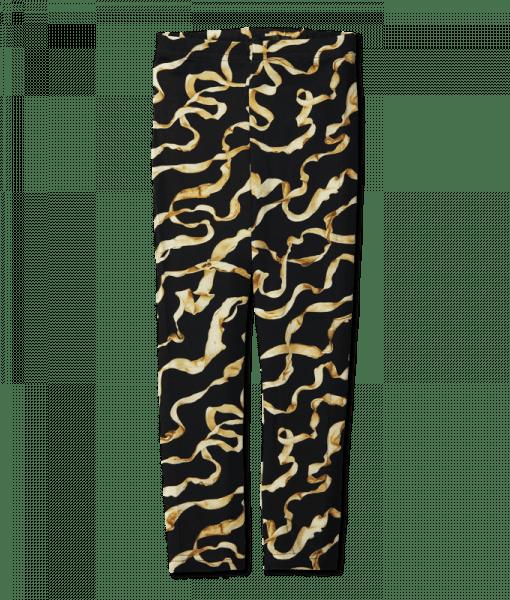 Vimma Leggins silkkinauha   musta-kulta   80-140cm - 80-140cm, musta-kulta, silkkinauha