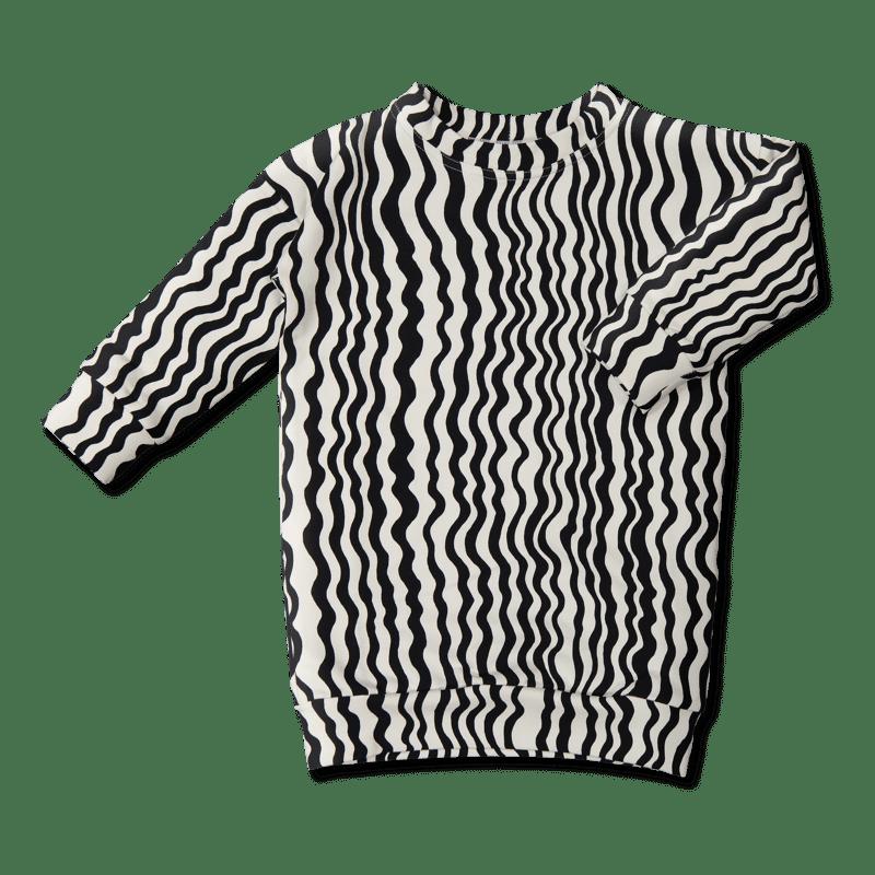 Vimma Jätticollege Aaltoraita   musta-valkoinen   90-150cm -