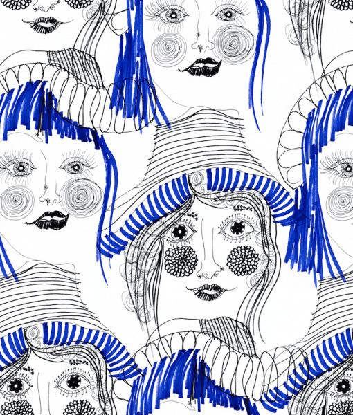 Vimma Puuvillaneulos   Girls   sini-valk   joustocollege - girls, joustocollege, puuvillaneulos, sini-valk