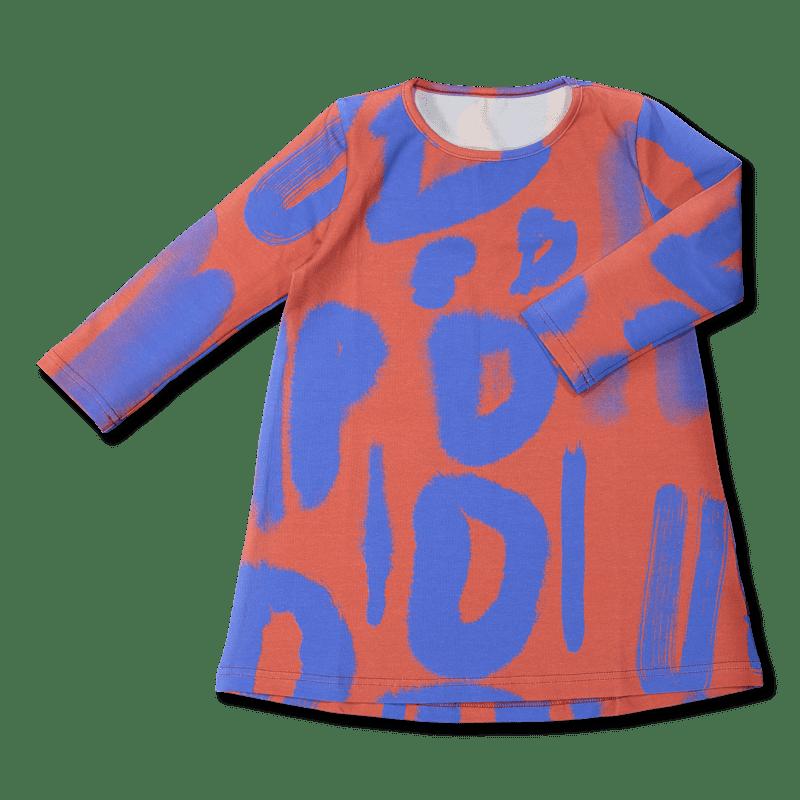 Vimma tunic dress   blurri   red-blue   80-140cm - 80-140cm, blurri, red-blue, tunic-dress