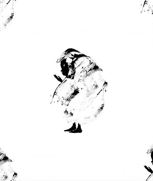 Vimma Puuvillakangas   Shamaani   musta-valkoinen - musta-valkoinen, Puuvillakangas, Shamaani