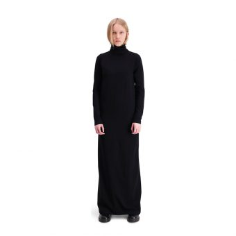 Vimma Polo neck dress KARLA one-colored black S-M - black, KARLA, one-colored, Polo neck dress, S-M