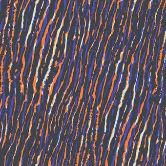 Vimma Puuvillaneulos African stripes orange-blue jersey - African Stripes, Cotton textile, Jersey, orange-blue