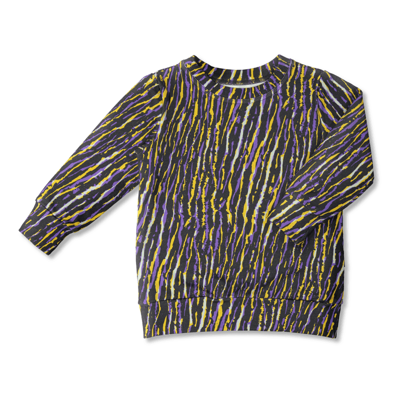 Vimma sweatshirt RIA Africa Stripes lilac-yellow 80-150cm - 80-150cm, Africa Stripes, lilac-yellow, RIA, sweatshirt