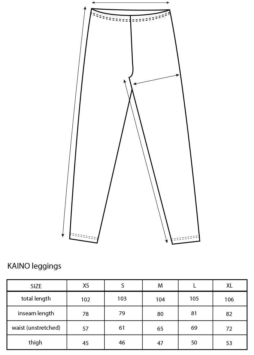 Vimma leggings KAINO TEMPLATE TEMPLATE XS-XL - KAINO, leggings, TEMPLATE, XS-XL
