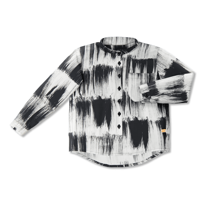 Vimma Botton-up shirt   VEIKKO   Huiske   black-white   90-150 cm - 90-150 cm, black-white, Botton-up shirt, Huiske, VEIKKO