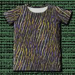 Vimma T-shirt dress UNNA African Stripes lilac-yellow 90-160 cm - 90-160 cm, African Stripes, lilac-yellow, t-shirt-dress, UNNA