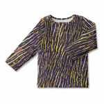 Vimma Snapper shirt OLA Africa Stripes lilac-yellow 80-140cm - 80-140cm, Africa Stripes, lilac-yellow, OLA, Snapper shirt