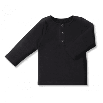 Vimma Snapper shirt OLA one-colored black 80-140cm - 80-140cm, black, OLA, one-colored, Snapper shirt