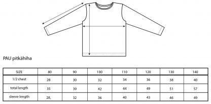 Vimma Long-Sleeve Shirt PAU Seppeleet pink 80-140cm - 80-140cm, Long-Sleeve Shirt, PAU, pink, Seppeleet